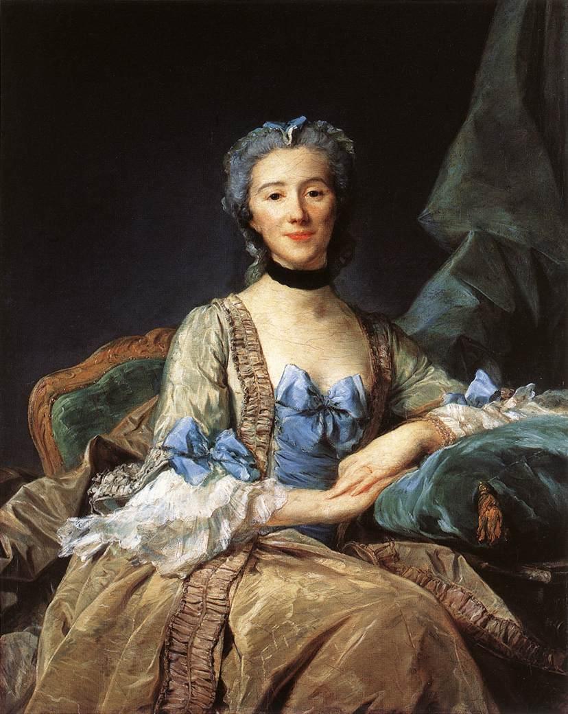 Jean-Baptiste Perronneau. La señora de Sorquainville. 1749. Museo del Louvre.