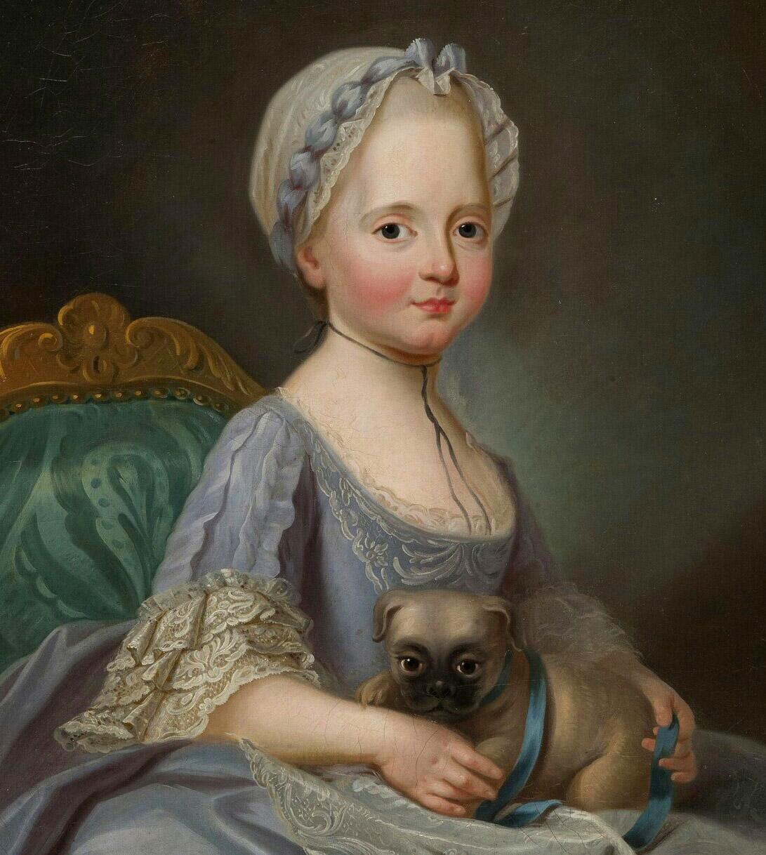 Joseph Ducreux. Madame Élisabeth. 1768. Palacio de Versalles.
