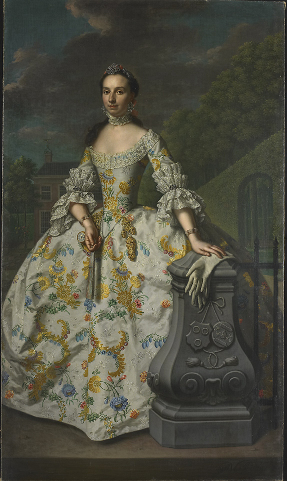 Mattheus Verheyden. Retrato de Charlotte Beatrix Strick van Linschoten. 1755. Rijksmuseum. Ámsterdam.