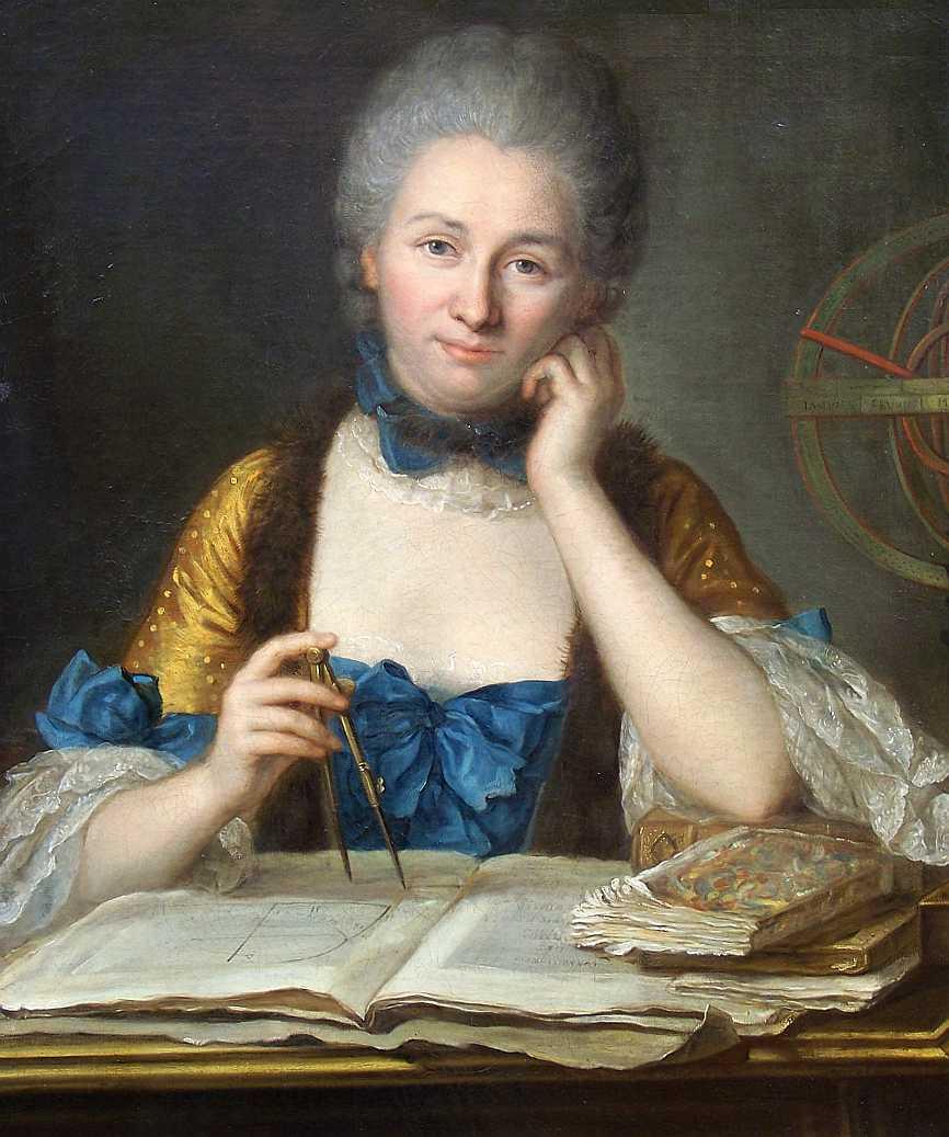 Maurice Quentin de La Tour. La señora Chatelet en su mesa de trabajo. Hacia 1740. Colección particular.