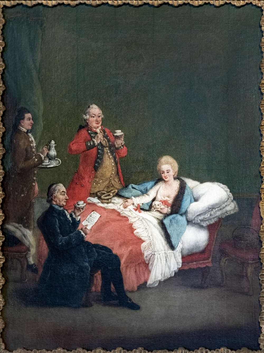 Pietro Longhi. El chocolate de la mañana. Hacia 1775-1780. Ca' Rezzonico. Venecia.