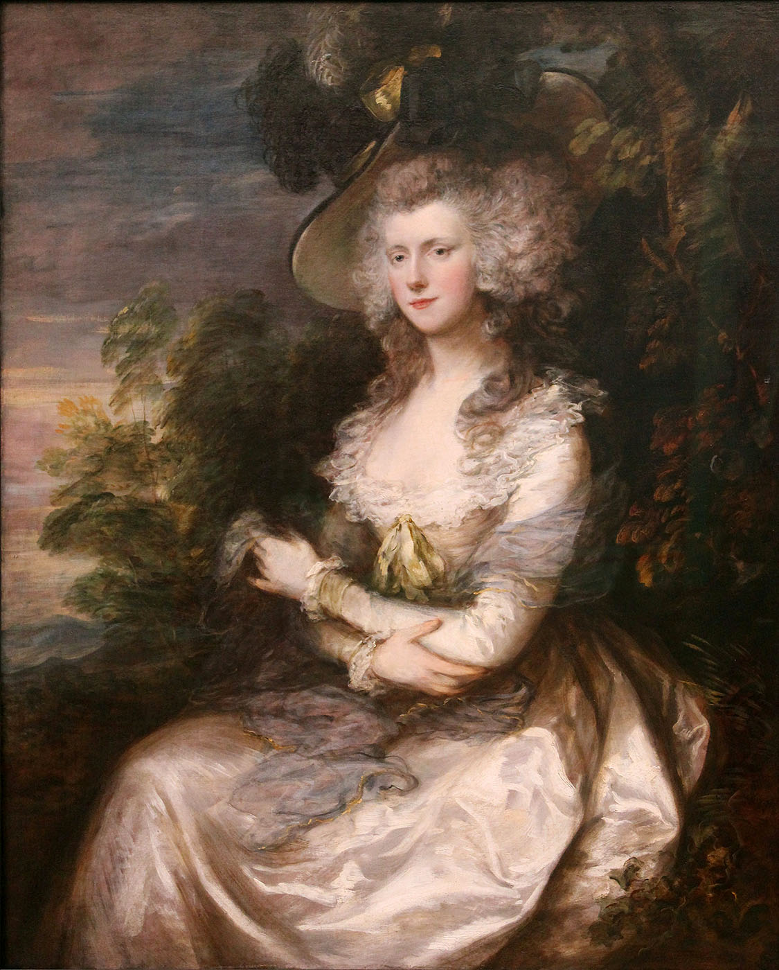 Thomas Gainsborough. Retrato de la señora Hibbert. 1786. Neue Pinakothek. Munich.