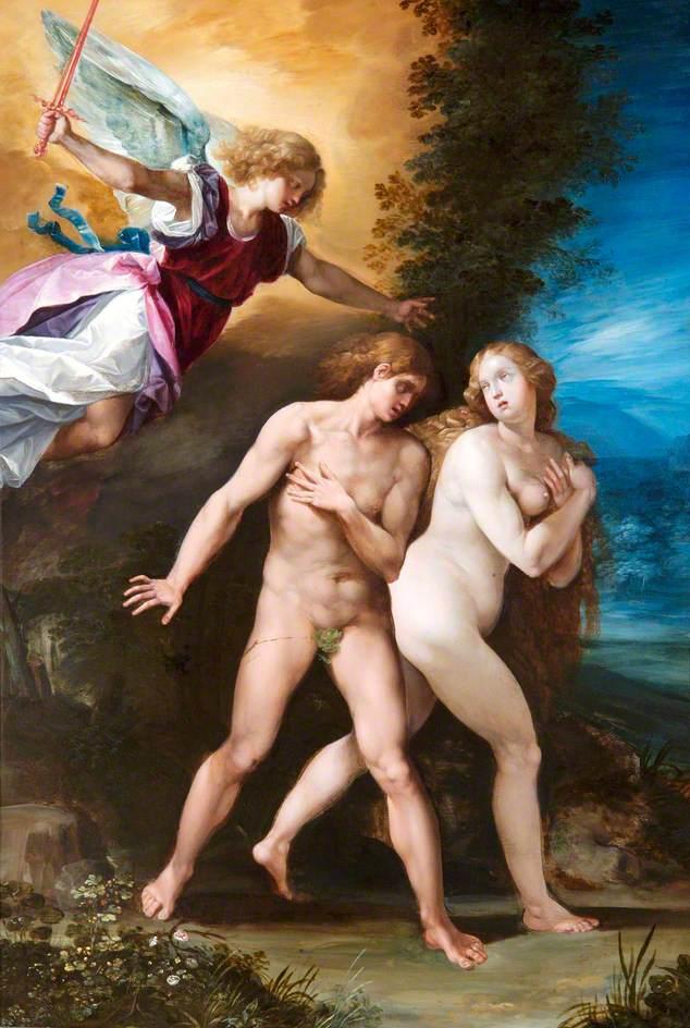Giuseppe Cesari. La expulsión del Paraíso. 1600-1610. Apsley House. Wellington Museum. Londres.
