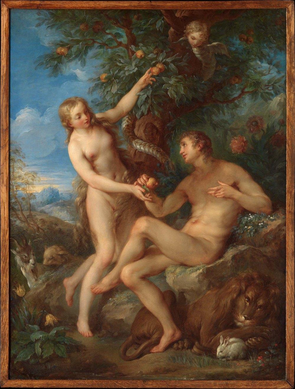 Charles Joseph Natoire. La expulsión de Paraíso. 1740.Metropolitan Museum. Nueva York.