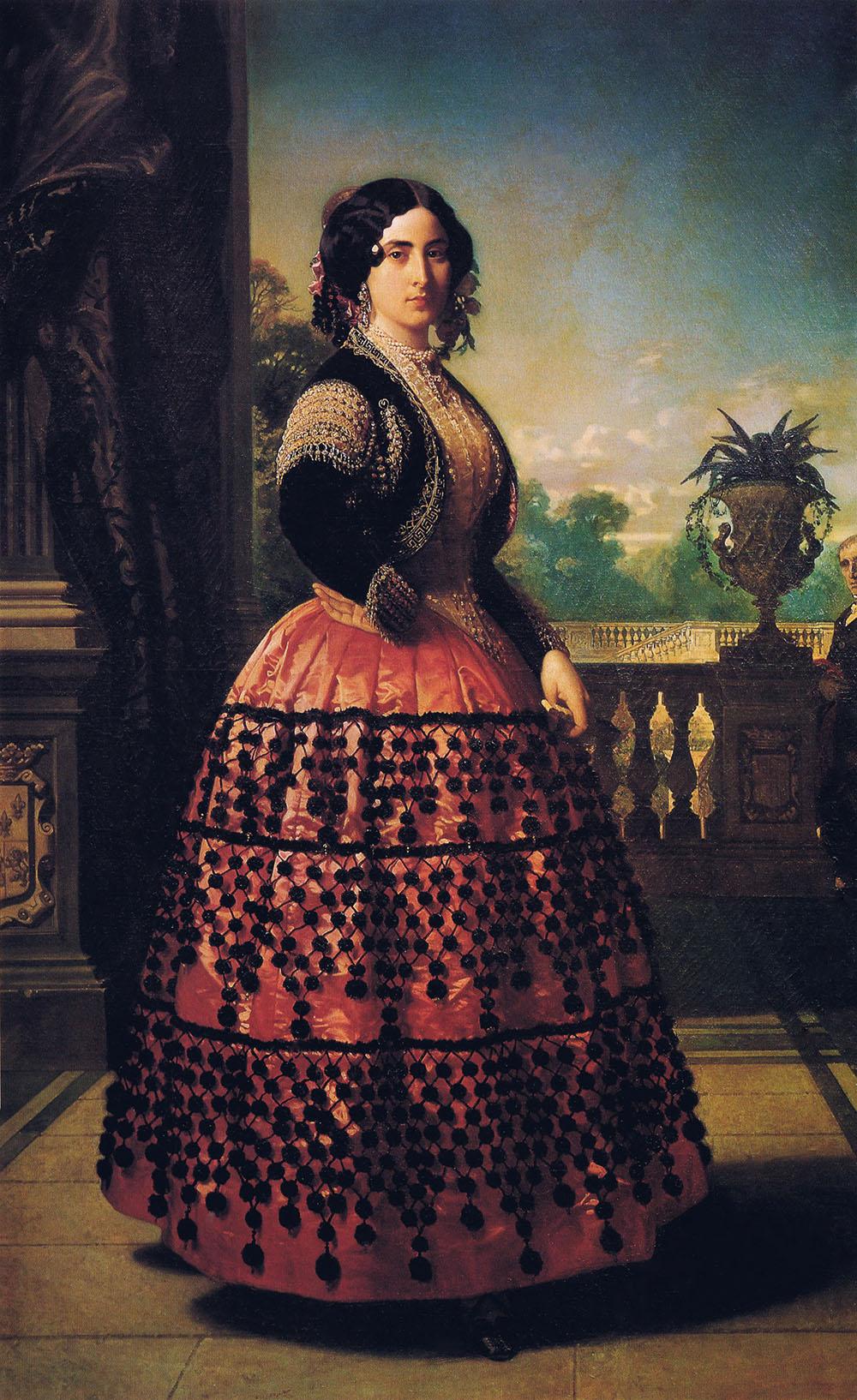 Federico de Madrazo. Ángela Pérez de Barradas y Fernández de Córdoba, duquesa de Medinacelli.1854. Palacio de las Dueñas. Sevilla.
