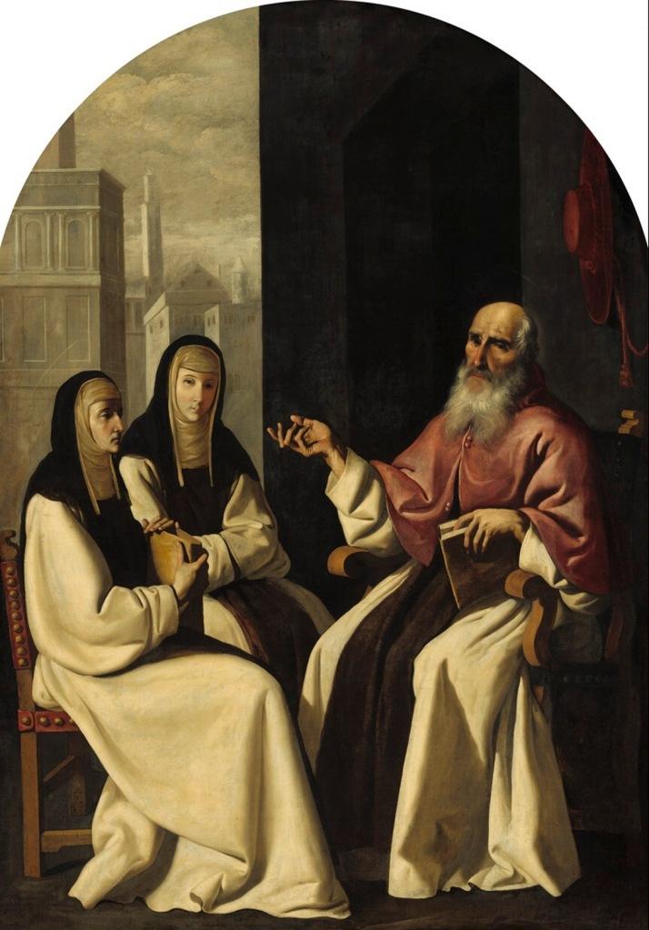 Francisco de Zurbarán y taller. San Jerónimo con Santa Paula y San Eustoquio. 1640-1650. National Gallery of Art. Washington.