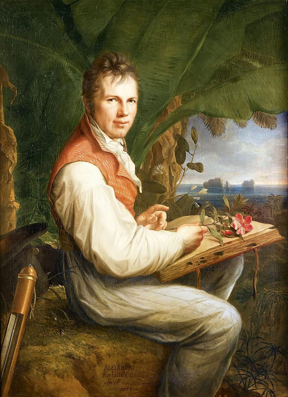 Friedrich Georg Weitsch. Retrato de Alexander von Humboldt. 1806.