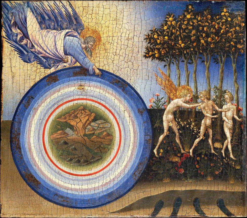 Giovanni de Paolo. La creación del mundo y la expulsión del paraíso. 1445 Metropolitan Museum. Nueva York.