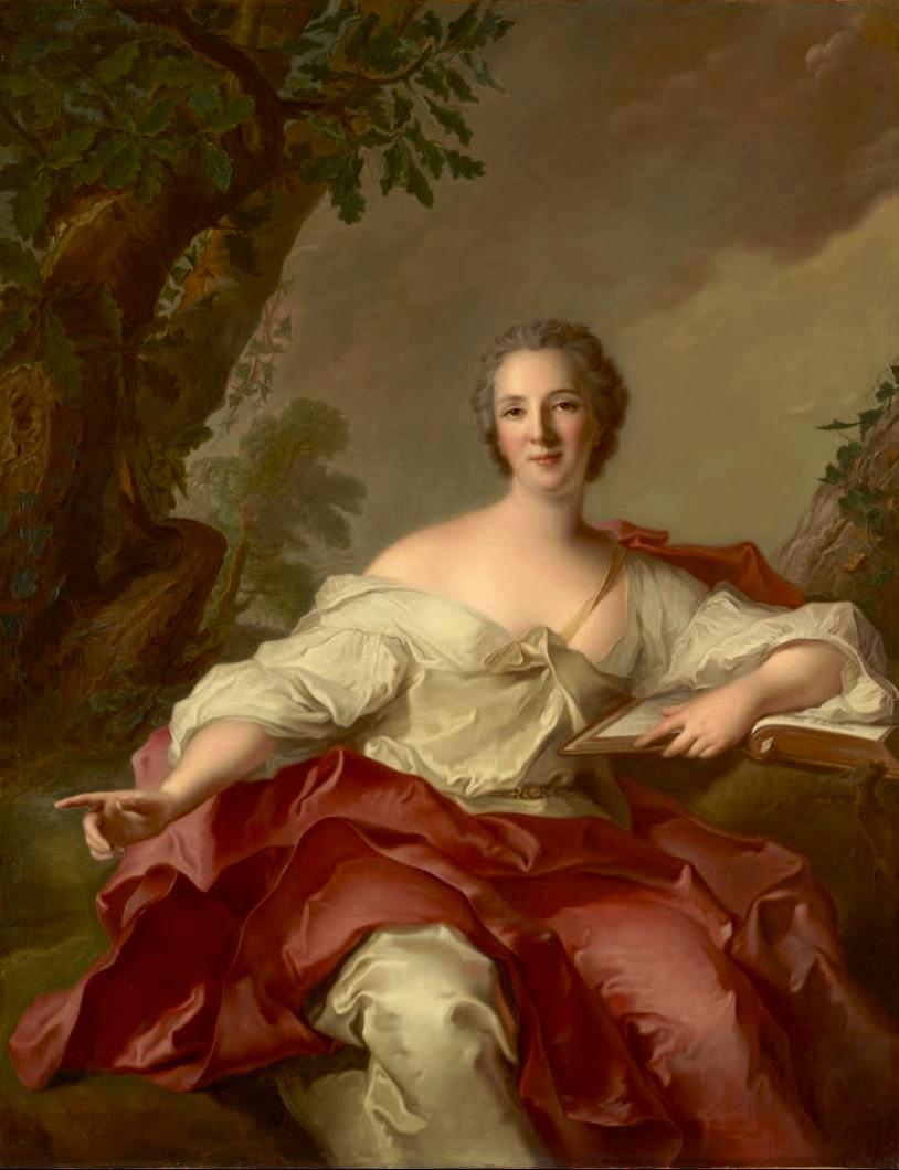 Jean-Marc_Nattier. Madame Geoffrin. 1738. Tokyo Fuji Art Museum.
