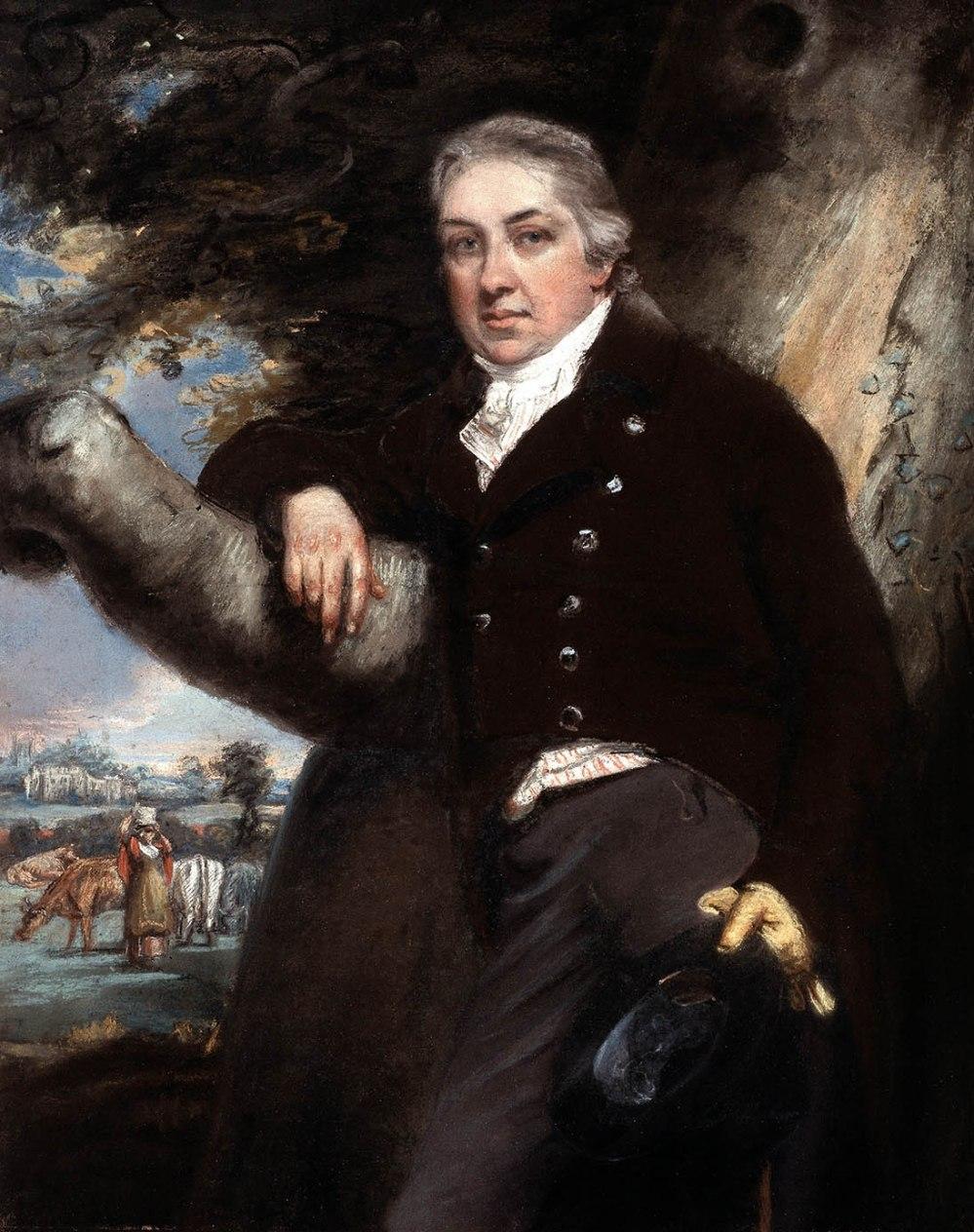 John Raphael Smith. Edward Jenner. Siglo XVIII. Colección Particular.