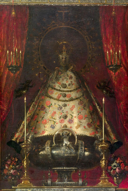 Juan Carreño de Miranda.La Virgen de Atocha. Hacia 1680. Museo Nacional del Prado. Madrid.