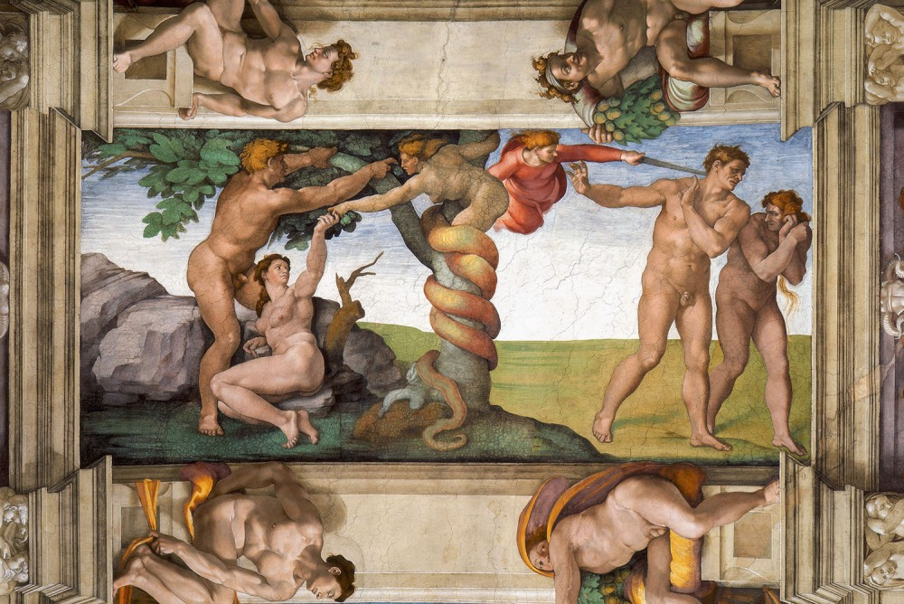 Miguel Ángel. Expulsión del paraíso. Hacia 1509. Capilla Sixtina.