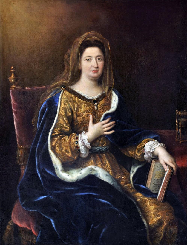 Pierre_Mignard. Françoise d'Aubigné. Marquesa de Maintenon. Hacia 1694. Musseo de Historia de Francia. Palacio de Versalles