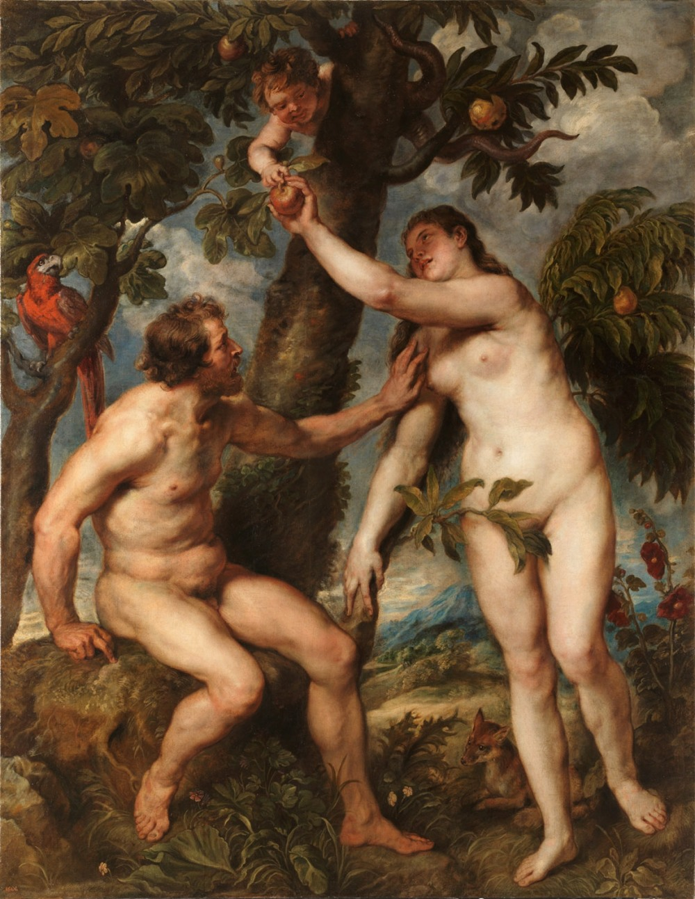 Rubens (Copia de Tiziano)Adán y Eva.j 1628-1629. Museo Nacional del Prado. Madrid.