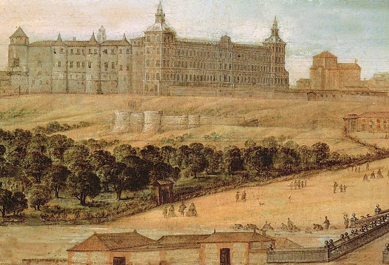 Félix Castelo. Vista del Alcázar de Madrid.1630-1640. Museo de Historia de Madrid.