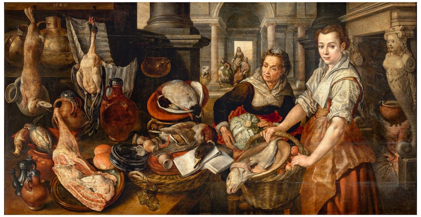 Joaquim Beuckelaer. Cristo en casa de Marta y María.1568. Museo Nacional del Prado. Madrid.