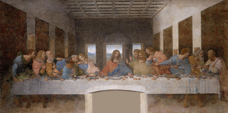 Leonardo da Vinci. La última cena. 1495-1498. Santa María delle Grazie. Milán.