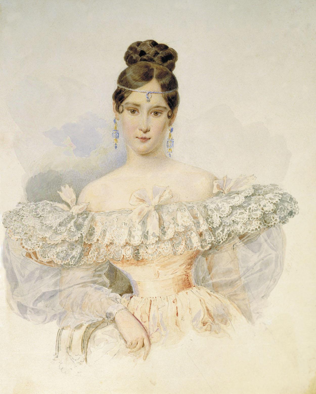 Alexander Brullov. Natalia Pushkina. 1831-1832. Museo Nacional Pushkin. Moscú.