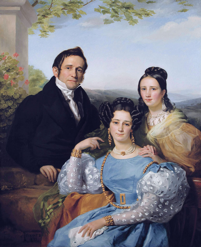 François-Joseph Navez. Théodore Joseph Jonet y sus dos hijas. 1832. Colección particular.